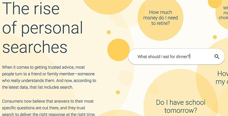 Rise of Personal Google Searches Results from Think with Google