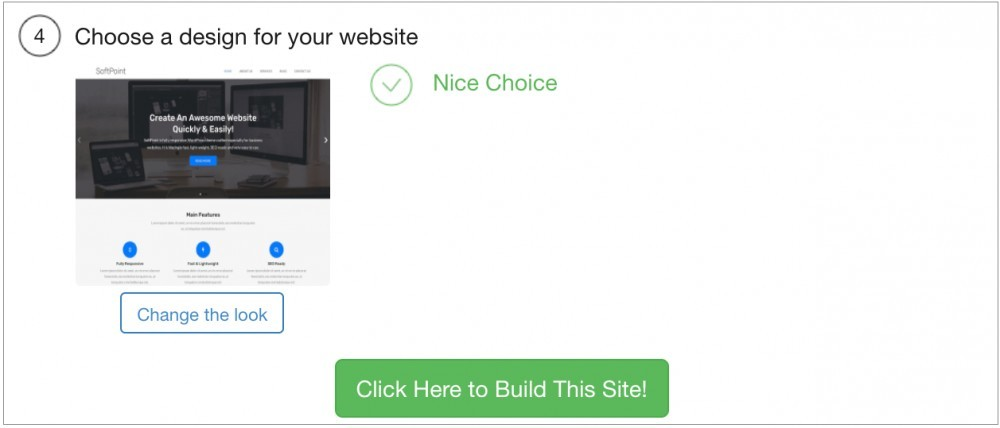 Click here to build a business website